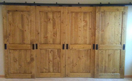 barn door closet Custom Interior Doors